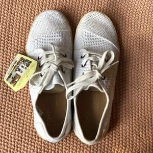 White Toms tennis shoe